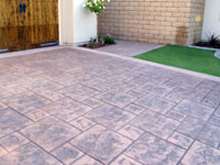 Photo of stamped concrete